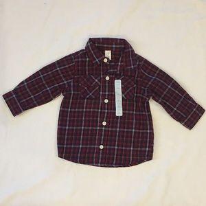 BABYGAP Boys Plaid Shirt Size 6-12 Months